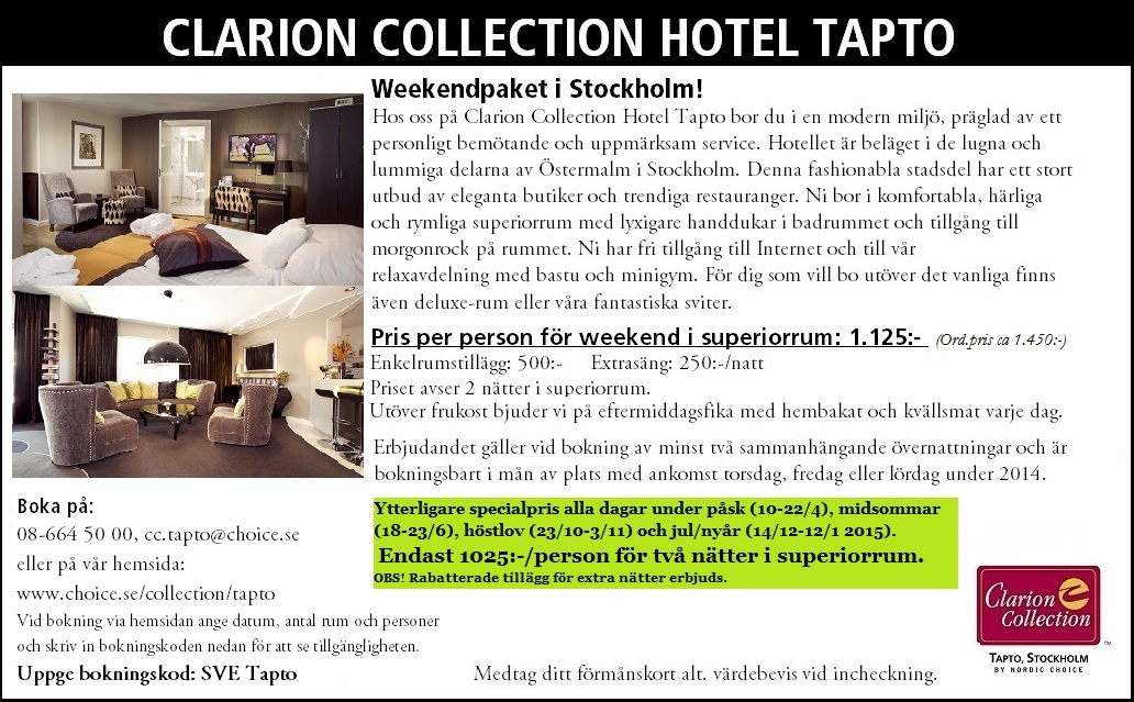 clarion collection hotel tapto sverigem rket. Black Bedroom Furniture Sets. Home Design Ideas